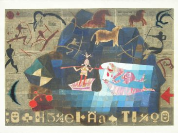 Midnight fishing, 145x200cm, 1995.